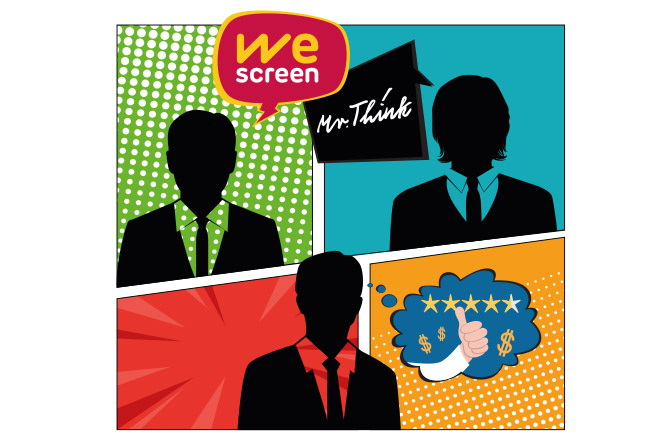 WeScreen Mr Think Cliente Satisfecho